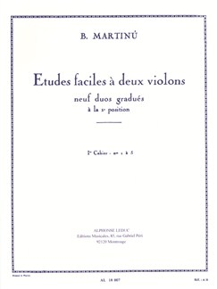 Bohuslav Martinů: Easy Studies For Two Violins (Volume 1) Books |