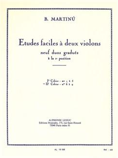 Bohuslav Martinů: Etudes Faciles A Deux Violins Vol.2 Books | Violin (Duet)