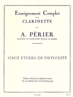 Auguste Périer: Vingt Études De Virtuosité (Clarinet) Books | Clarinet