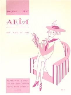Jacques Ibert: Aria (Flûte/Piano) Livre | Flûte Traversière, Accompagnement Piano