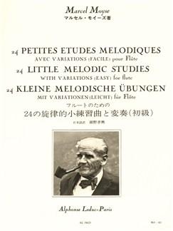 Marcel Moÿse: 24 Petites Etudes Mélodiques Avec Variations For Flute Buch | Querflöte