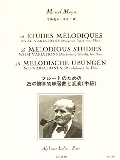 Marcel Moyse - 25 Études mélodiques avec variations pour flûte Livre | Flûte Traversière
