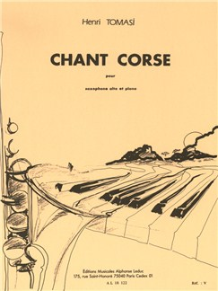 Henri Tomasi: Chant Corse (Alto Saxophone/Piano) Bog | Altsaxofon, Klaverakkompagnement