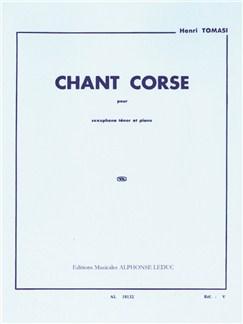 Henri Tomasi: Chant Corse (Tenor Saxophone/Piano) Libro | Saxofón Tenor, Acompañamiento de Piano