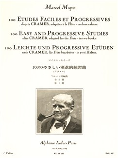 Marcel Moyse: 100 Easy And Progressive Studies By Crammer For Flute (Volume 1) Books | Flute
