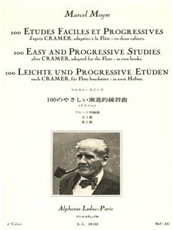 Marcel Moyse: 100 Etudes Faciles Et Progressives D'Après Cramer Vol.2 (Flute) Buch | Querflöte