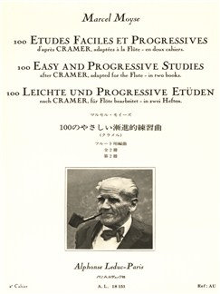 Marcel Moyse: 100 Etudes Faciles Et Progressives D'Après Cramer Vol.2 (Flute) Books | Flute