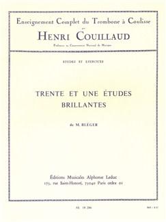 Henri Couillaud: 31 Etudes Brillantes De Michel Bléger (Trombone) Books | Trombone