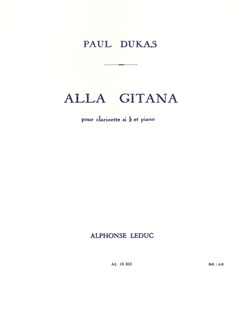 Paul Dukas: Alla Gitana (Clarinet/Piano) Books | Clarinet, Piano Accompaniment