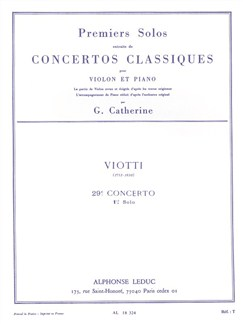 Georges Catherine: First Seules Extracted From The Classic Concertos (Viotti's Concert No. 29) Livre | Violon