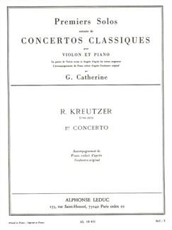 Rodolphe Kreutzer: Solo No.1 From Concerto No.1 (Violin/Piano) (Catherine) Books | Violin, Piano Accompaniment
