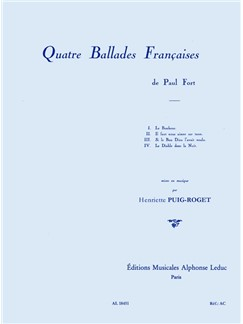 Henriette Puig-Roget: Quatre Ballades Françaises For Voice And Piano Books | Voice, Piano Accompaniment