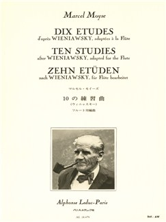 Marcel Moyse: 10 Etudes D'Après Wieniawsky (Flute) Books | Flute