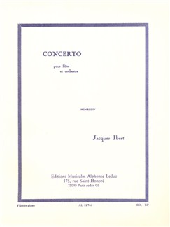 Jacques Ibert: Concerto For Flute And Orchestra (Flute/Piano) Books | Flute, Piano Accompaniment