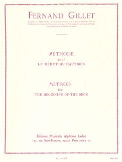 Fernand Gillet: Méthode Pour Le Début Du Hautbois (Oboe) Books | Oboe
