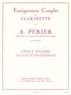 Auguste Périer: Vingt Etudes Faciles Et Progressives (Clarinet) Books | Clarinet