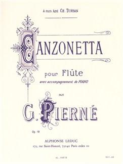 Gabriel Pierné: Canzonetta Op.19 (Flute/Piano) (Petiot) Books | Flute, Piano Accompaniment