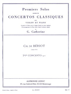 Charles Auguste de Bériot: Solo From Concerto No.7 (Violin/Piano) Books | Violin, Piano Accompaniment