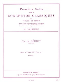 Georges Catherine: First Solos extracted from the Classic Concertos (Bériot''s Concert No. 9), for Violin and Piano Books | Violin, Piano Accompaniment