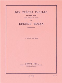 Eugène Bozza: 10 Pièces Faciles No.3 - Menuet Des Pages Books | Violin, Piano Accompaniment