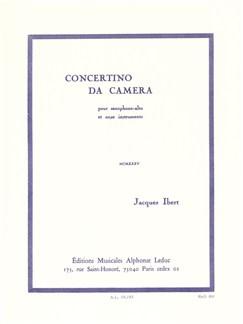 Jacques Ibert: Concertino Da Camera Livre | Saxophone Alto, Accompagnement Piano