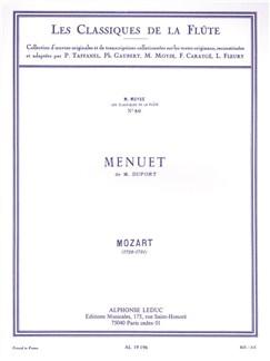 W.A. Mozart: Menuet De M. Duport (Flute/Piano) (Moyse) Books | Flute, Piano Accompaniment