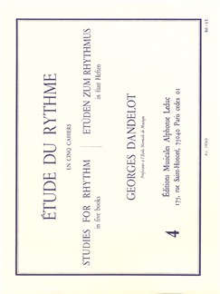 Georges Dandelot: Etude Du Rythme Vol.4 Books |