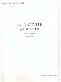 Olivier Messiaen - La Nativité du Seigneur (vol. 4) Livre | Orgue, Partitions