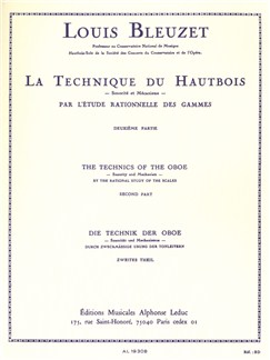 Louis Bleuzet: Technique Du Hautbois/The Technics Of The Oboe Vol.2 Books | Oboe
