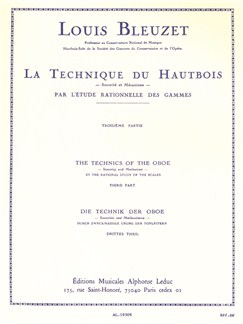Louis Bleuzet: The Technique Of The Oboe (Volume 3) Books | Oboe