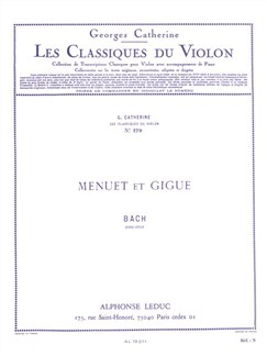 Georges Catherine: Violin Classics - Menuet And Gigue By J.S. Bach Books | Violin
