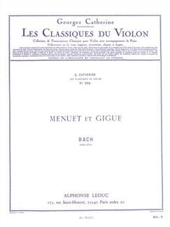 Georges Catherine: Violon Classics - Menuet et Gigue By J.S. Bach Livre | Violon