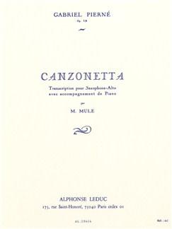 Gabriel Pierné: Canzonetta Op.19 (Alto Saxophone/Piano) (Mule) Books | Alto Saxophone, Piano Accompaniment