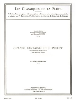 Jules Demersseman: Great Concert Fantasy, Op. 52- Flute Classics By Marcel Moyse (Flute And Piano) Books | Flute