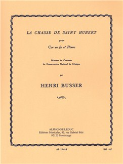 Henri Busser: Le Chasse De Saint Hubert (French Horn/Piano) Books | French Horn, Piano Accompaniment