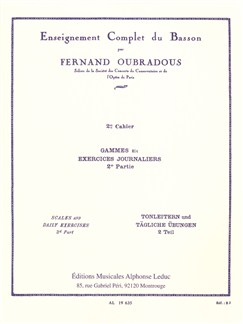 Fernand Oubradous: Enseignment Complet Du Basson Vol.2 - Gammes Et Exercices Journaliers II Books | Bassoon