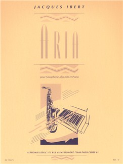 Jacques Ibert: Aria (Alto Saxophone/Piano) Books | Alto Saxophone, Piano Accompaniment
