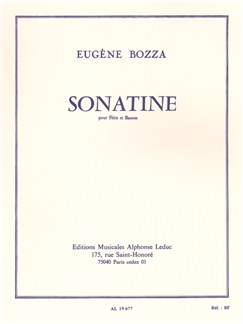 Eugène Bozza: Sonatine For Flute And Bassoon Books | Flute, Bassoon