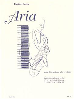 Eugene Bozza: Aria (Alto Saxophone/Piano) Buch | Alt-Saxophon, Klavierbegleitung