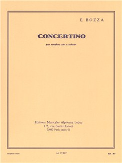 Eugène Bozza: Concertino (Alto Saxophone/Piano) Books | Alto Saxophone, Piano Accompaniment
