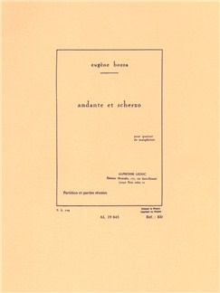Eugène Bozza: Andante And Scherzo (Saxophone Quartet) (Score/Parts) Books | Saxophone (Quartet)