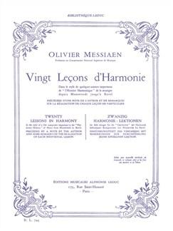 Olivier Messiaen: Vingt Leçons d'Harmonie (Livre) Livre |