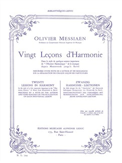 Olivier Messiaen: Vingt Leçons D'harmonie (Book) Books |