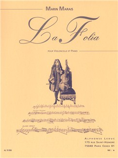 Marin Marais: La Folia (Cello/Piano) (Bazelaire) Books | Cello, Piano Accompaniment