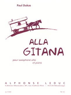 Paul Dukas: Alla Gitana, for Alto Saxophone and Piano Books | Saxophone