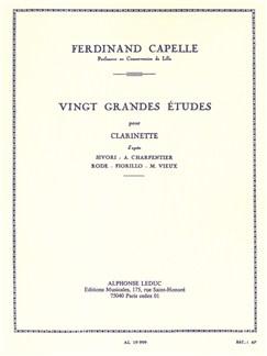 Ferdinand Capelle: Vingt Grandes Études (Clarinet) Libro | Clarinete