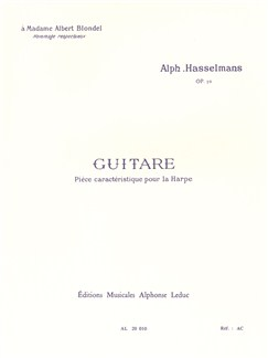 Alphonse Hasselmans: Guitare Op.50 (Harp) Books | Harp