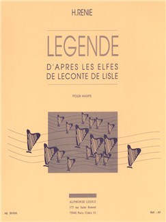 Henriette Renié: Legende D'Apres Les Elfes De Leconte De Lisle (Harp) Bog | Harpe
