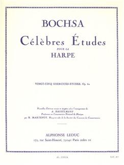 Robert Nicolas-Charles Bochsa: Célèbres Études - Twenty-Five Studies Op.62 Libro | Arpa