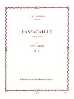 George Frideric Handel: Passacaille/Passacaglia (Harp) (Béon) Books | Harp
